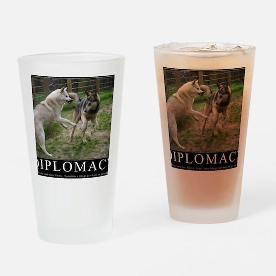 Diplomacy Drinking Glass