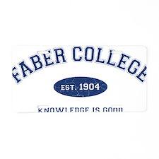 2-Faber Aluminum License Plate