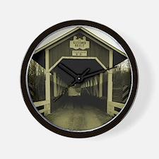 covered bridge copy Wall Clock