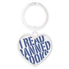 banned Heart Keychain