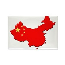 China_Flag_Map_1 Rectangle Magnet
