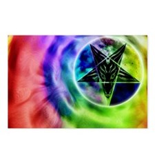 baph-tiedye2-stainedglass Postcards (Package of 8)