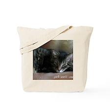 Cat Get Well Notecard Tote Bag