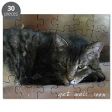Cat Get Well Notecard Puzzle