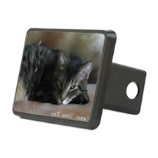 Cat Get Well Notecard Hitch Cover
