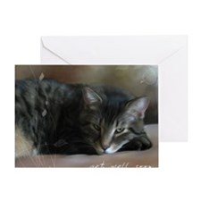 Cat Get Well Notecard Greeting Card
