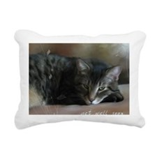 Cat Get Well Notecard Rectangular Canvas Pillow