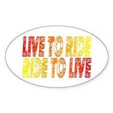 Live to Ride Oval Decal