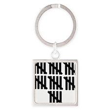 line_thirtyfive Square Keychain