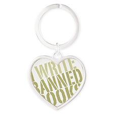 writebanned2 Heart Keychain