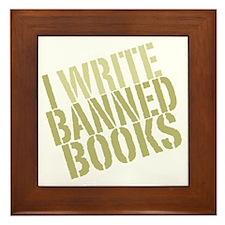 writebanned2 Framed Tile