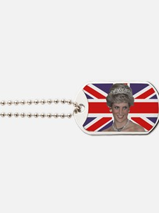 Princess Diana flying the Flag Dog Tags