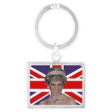 Princess Diana flying the Flag Landscape Keychain