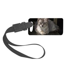 Silver Tabby At Rest Luggage Tag