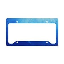 blue dolphin long License Plate Holder