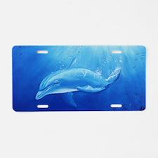 blue dolphin long Aluminum License Plate