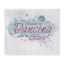 Dancing with Flowers Throw Blanket