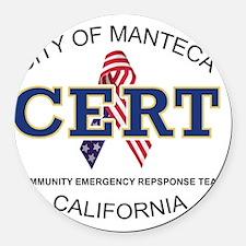 manteca_cert_logo Round Car Magnet