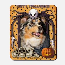 HalloweenNightmare_Australian_Shepherd_D Mousepad