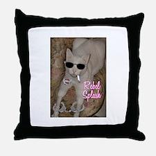 Rebel Splash Throw Pillow