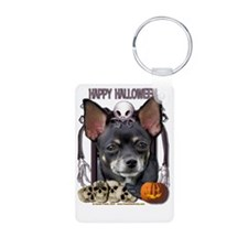 HalloweenNightmare_Chihuah Aluminum Photo Keychain