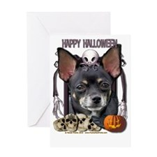 HalloweenNightmare_Chihuahua_Isabell Greeting Card