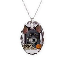 HalloweenNightmare_Chihuahua_I Necklace Oval Charm