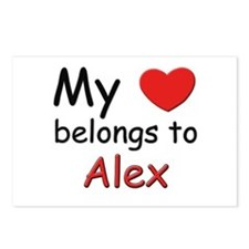 My heart belongs to alex Postcards (Package of 8)