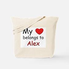 My heart belongs to alex Tote Bag