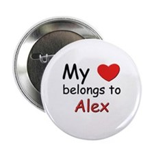 My heart belongs to alex Button