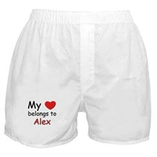 My heart belongs to alex Boxer Shorts