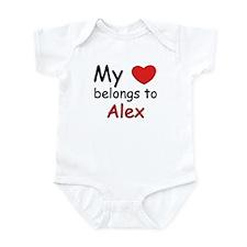 My heart belongs to alex Infant Bodysuit