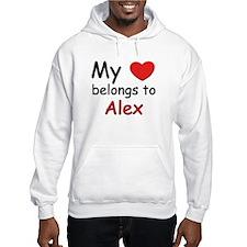 My heart belongs to alex Hoodie