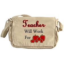 Teacher apples 1 Messenger Bag