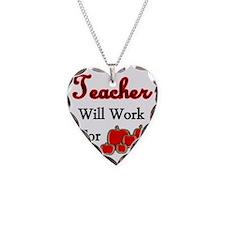 Teacher apples 1 Necklace
