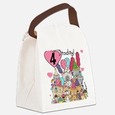 ZXKITTENS4 Canvas Lunch Bag