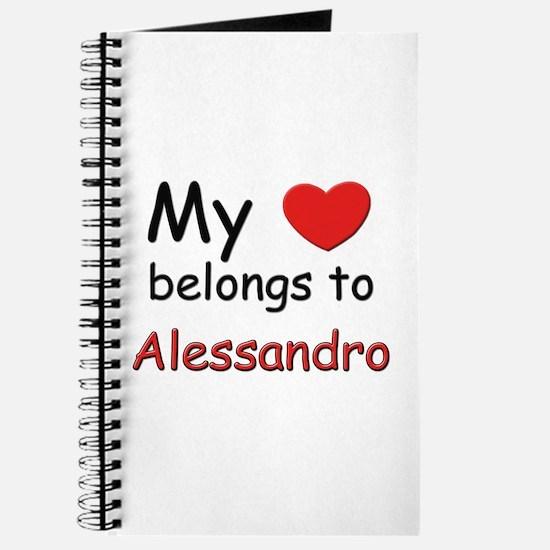 My heart belongs to alessandro Journal