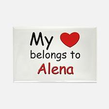 My heart belongs to alena Rectangle Magnet