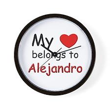 My heart belongs to alejandro Wall Clock