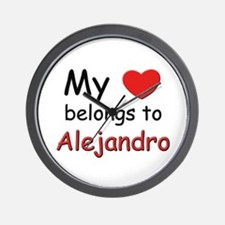 My heart belongs to alejandro Wall Clock