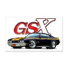 Black_GSX Rectangle Car Magnet