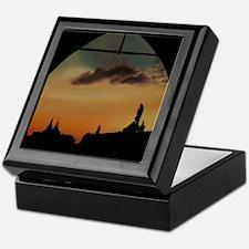 Sunset Keyhole Keepsake Box