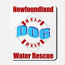Newf Water Rescue Mousepad