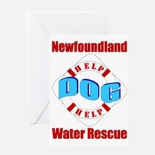 Newf Water Rescue Greeting Card