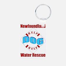 Newf Water Rescue Keychains