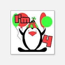 """PENGUIN4 Square Sticker 3"""" x 3"""""""