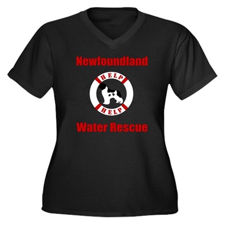 HelpLandseer Women's Plus Size Dark V-Neck T-Shirt