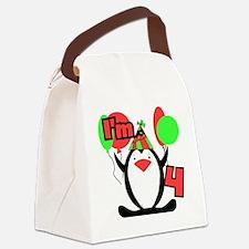 PENGUIN4 Canvas Lunch Bag