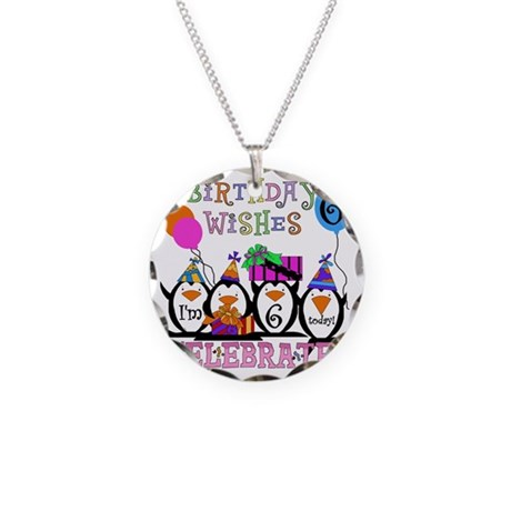PENGUINBDAY6 Necklace Circle Charm