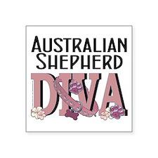 "Australian_Shepherd_DIVA Square Sticker 3"" x 3"""
